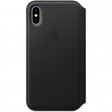 Чехол для iPhone Apple iPhone X Leather Folio Black